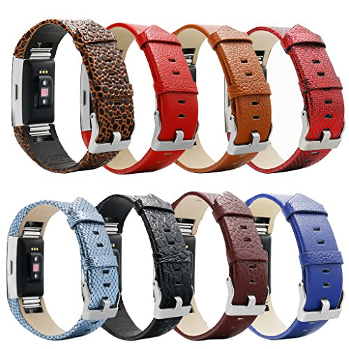 For Fitbit Charge 2 Accessory Real Leather Wrist Band Bracelet Classic Buckle For Fitbit Charge 2 Wristband Replacement Genuine Leather Bands Brac