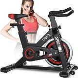 Dripex Vélo d'Appartement Cardio Vélo Spinning Appareil Fitness Sport Abdominal Dos Bras, Anti-Résistance Pouls à la…