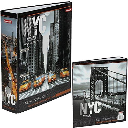 Order DIN A4 laminiert, 75mm, New York city Aktenordner Ringordner Papier Briefordner Schulordner