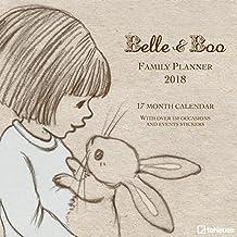 Belle & Boo 2018 - Familienplaner 5 Spalten, Broschürenkalender, Kinderkalender mit Stickern  -  30 x 30 cm
