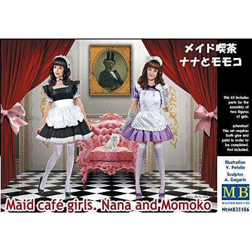 Master Box Ltd. mb35186-Figuras Maid Cafe Girls. Nana and Momoko