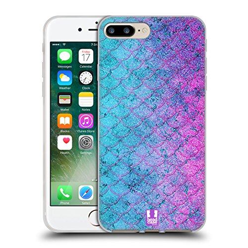 Head Case Designs Bubblegum Meerjungfrau Skalen Soft Gel Hülle für Apple iPhone 5 / 5s / SE Bubblegum
