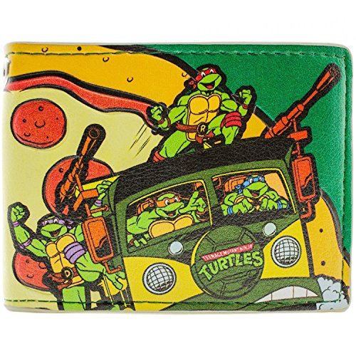 Mirage Teenage Mutant Ninja Turtles Pizza Zeit Gelb Portemonnaie (Kostüme Kinder Pizza)