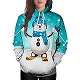 Mens Natale Maglioni per le Donne Plus Size Divertente Novità Pupazzo di Neve 3D Stampato Natale Ugly Oversize Felpa Con Capp