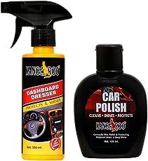 Kangaroo CAR Polish 125ML + Dashboard Polish Spray 200ML + Two Foam PAD