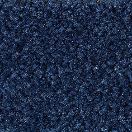 Teppichboden Auslegware | Hochflor Langflor | 400 und 500 cm Breite | dunkel-blau | Meterware, verschiedene Größen | Größe: 1 Muster