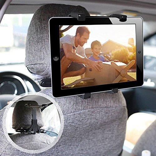 ieGeek Universal KFZ-Kopfstützen Tablet Halterung, Auto Rücksitz Kopfstütze Halterung Einstellbare Halter Für iPad 2/3/4/Mini/Air, Samsung Galaxy Tab, Tragbare DVD-Player und 7-12 Zoll Tablets