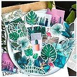 Aolvo Ephemera Lot (lot de 60), Tropical plantes Style Note Stickers simple Autocollant Fleurs roses de jardin Fleurs sauvage