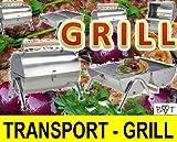 CAMPING Edelstahl Grill Holzkohle Tischgrill Klappgrill Gartengrill Picknick NEU