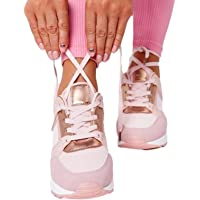 High Heeled Women Walking Shoes, Comfortable Footwear Sneakers, Casual Running Athletic Sneakers for Tennis, Gym…