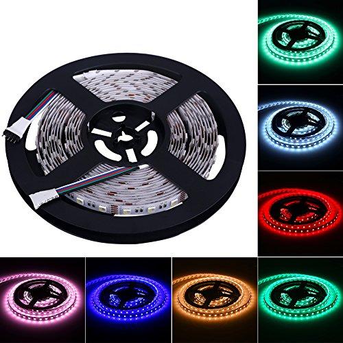 FVTLED 5m RGBWW (RGB+Warmweiß) 4 in 1 LED Streifen Licht LED Strip Lichtleiste 300 LEDs (SMD 5050) für Haus Decorative -