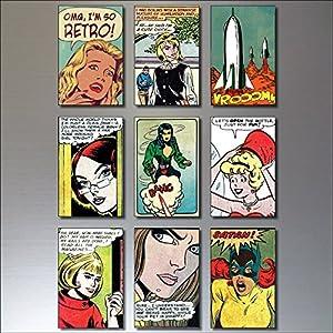 9 lustige Kühlschrankmagnete, Vintage Retro Comic Strip Kühlschrankmagnete - lustige ..