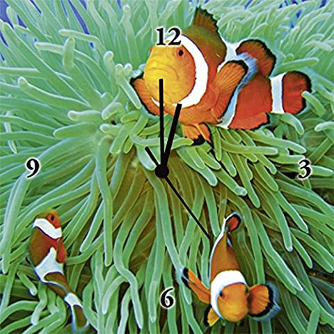 Clock watches on Canvas with Artland Pattern animals Fish Tommy Schultz: Finding Nemo Size: 30 x 30 CM Large Selection in Our