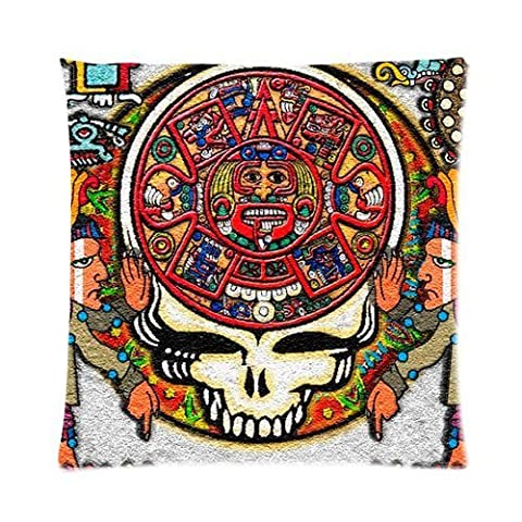andersonfgytyh Band Grateful Dead Tie Dye Pattern Soft Pillow case Cover 16*16 Inch (Twin sides)Zippered Pillowcase