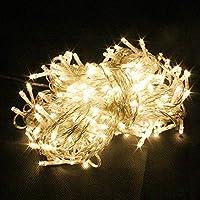 PMS® 400 LED luz cadenas ligeras de hadas para Navidad fiestas de boda de jardín Decoración del árbol (Blanco Cálido)