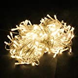 PMS 100-1000 LED String Fairy Lights On Clear Cable with 8 Light Effects, Ideal for Christmas, Xmas, Party,Wedding,ETC (Warm, 1000 LEDs)