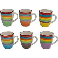 Druline Bunt:, Kaffeebecher, 4er-Set (Gelb, Blau, Lila, Rot)