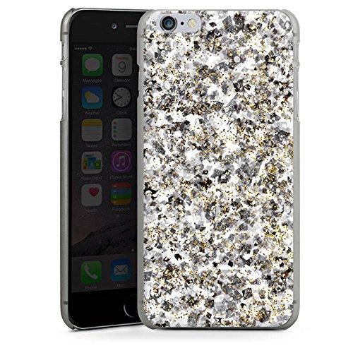 Apple iPhone X Silikon Hülle Case Schutzhülle Muster Glitzer Silber Hard Case anthrazit-klar