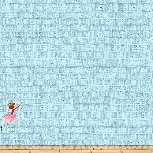 Michael Miller 0673179 Fabrics Lola Dutch at The Library Blue Stoff, Textil, blau, by Yard (Blue Dutch Bekleidung)