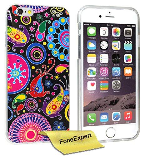 FoneExpert® iPhone 6 - Etui Housse Coque TPU Gel Cover Case pour Apple iPhone 6 (4.7inch) + Film de Protection d'Ecran (Fleur 3) Jelly fish