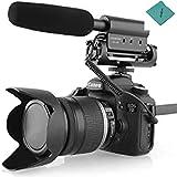 Takstar Kondensatorfotografie Interview Aufnahmemikrofon Kompatibel mit Canon Nikon Kamera DSLR DV SGC-598