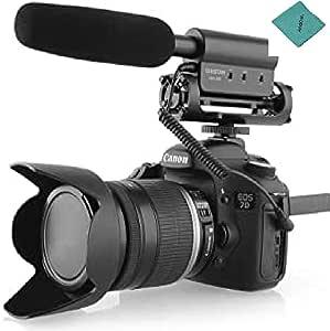 Takstar Microfono di Condensatore Fotografia Intervista Registrazione per Canon Nikon fotocamera DSLR DV SGC-598