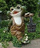 Design 2 quakender Frosch 40 cm Hoch Deko Garten Gartenzwerg Figuren Dekoration
