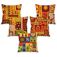 Aart Beautiful Designer Printed Cushion Cover 16 By 16 Set Of 5