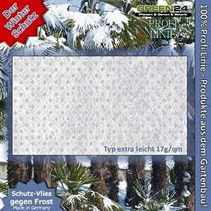 GREEN24 Pflanzen Schutz-Vlies extra leicht 17g/qm M170 Vlies zum Winterschutz & Kälteschutz, Isolierung und Abdeckung bei Frost, Wind und Schnee, Schädlingen, 240cm breit, Länge nach Wunsch