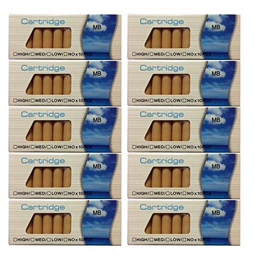 NK's store Generisches 100 x MB Nikotindepots mit 0,0 mg für die Elektronische Zigarette auch passend für Clever Smoke