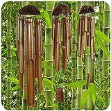 Windspiel Bambus Bali Toller Klang Deko für Garten und Balkon Feng Shui 85cm