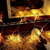 TAOtTAO Vorhang Herz Lichter String House Party Decor Auffallender With10 LED Perlen