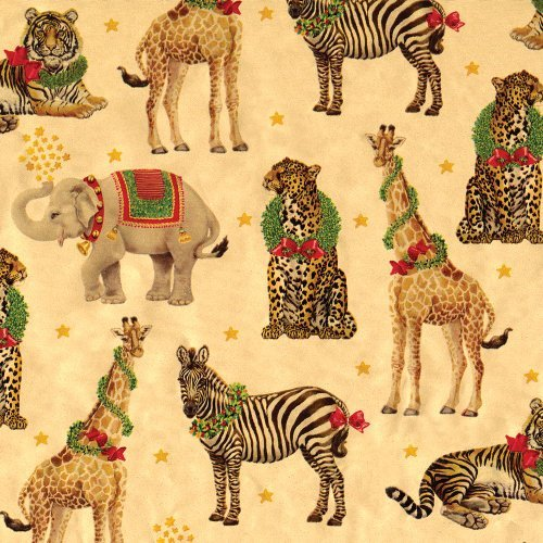 Entertaining with Caspari Continuous Roll of Gift Wrapping Paper, Wild Christmas Gold Foil, 8-Feet, 1-Roll by Caspari