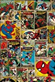 GB eye 61 x 91.5 cm Marvel Spiderman Comic Collage Maxi Poster, Assorted