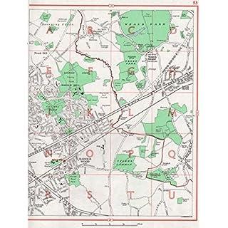 HAROLD WOOD: Noak Hill Harold Hill S Weald Harold Park Romford Brook St;1964 map