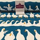 100% Baumwolle Leinwand See Blau Enten Craft Stoff gedruckt