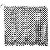 Edelstahl Eisen von langlebigem Metall Kettengeflecht Scrubber für Bratpfanne Topf Wok Kochgeschirr Reinigung Quadratisch