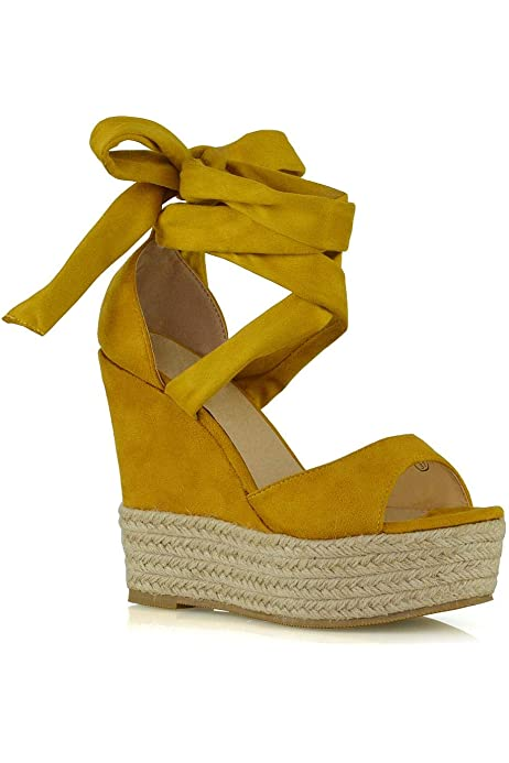 WOMENS WHITE CUT OUT ESPADRILLES SUMMER WEDGE SANDALS SHOES LADIES UK SIZE 3-8