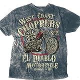 West Coast Choppers T-Shirt El Diablo Tee, Farbe:blau;Größe:3XL