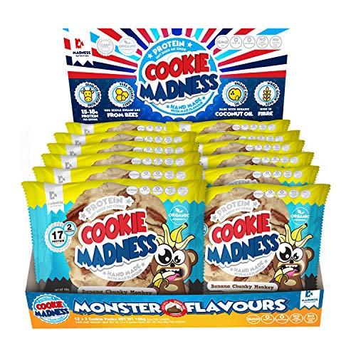 Madness Nutrition Cookie Madness Eiweiß Keks Box, 12 x 106g, (Banana Chunky Monkey)