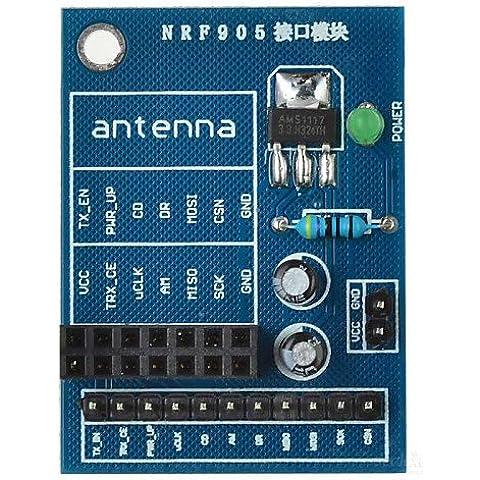 HEZHENGFENG NRF905 Módulo inalámbrico placa Socket Adaptador de junta para ino+ Raspberry Pi - Accesorio azul