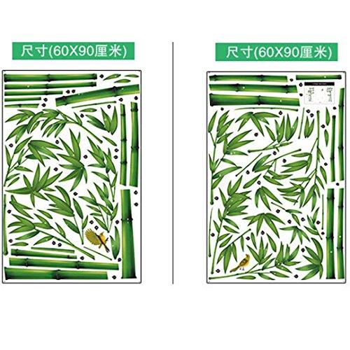 Vovotrade Lifelike profonda Bamboo Forest 3D adesivi murali Romance della decorazione della parete della decorazione della casa fai da te