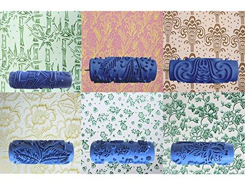F fityle applicatore per pittura a rullo con vernice decorativa empaistic da 7 '' in gomma stampa floreale - 2