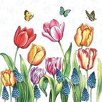 5 Servietten ~ Traubenhyazinthen blau violett Frühlingsblumen Serviettentechnik