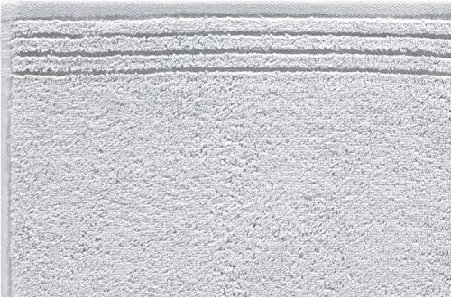 Grund memory asciugamani in tessuto grigio chiaro, cotone, grau, 50 x 100 cm