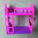 YOSEMITE Cartoon Kunststoff Etagenbett Möbel Kinder Spielzeug Zubehör für Barbie Puppenhaus Vergleich