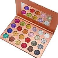 Start Makers Glitter Eyeshadow Palette Metallic Shimmer Pigmented Mineral Cosmetic Kit