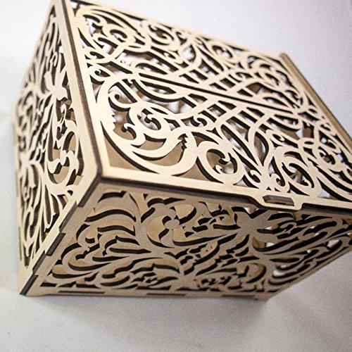 Holz Kleine Box für Schmuck Ringe Ohrringe Manschettenknöpfe Zehenringe Geschenke Holz-schmuck-boxen