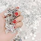 JZK 4 Pack Kunststoff Just Married Herz Silber Hochzeit Streudeko Konfetti Werfen Konfetti Tischdeko Confetti - 2