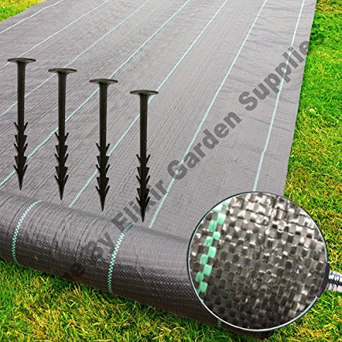 elixir-gardens-r-ground-cover-landscape-fabric-weed-membrane-4m-pegs-staples-4m-x-10m-2-plastic-pegs